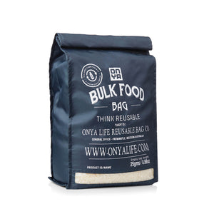 onya reusable bulk food bag charcoal large