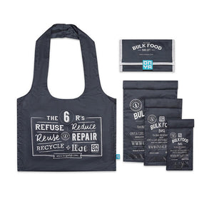onya reusable bulk food bag set charcoal
