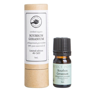 Bourbon Geranium LIMITED EDITION 100% Pure & Certified Organic Essential Oil - Perfect Potion