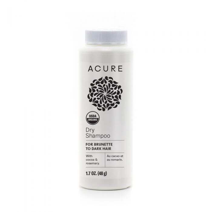 Live Life Green Acure dry shampoo dark palm oil cruelty free