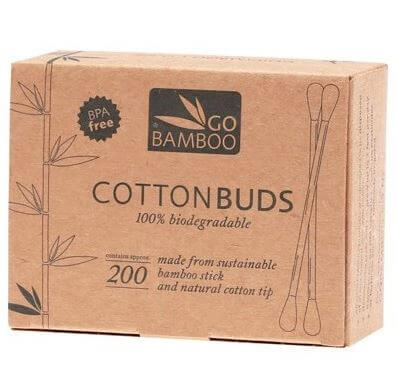 Go Bamboo - 200 Pack Bamboo Cotton Buds