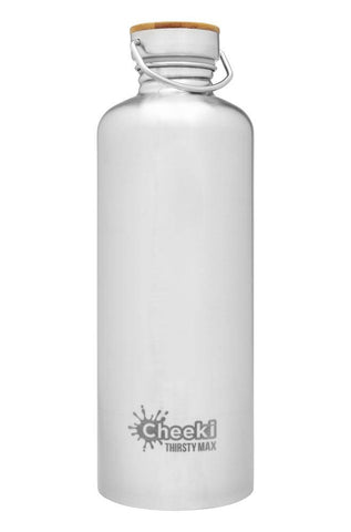 Cheeki 1.6L Thirsty Max Stainless Steel Bottle - Silver