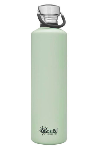 Cheeki 1L Classic Single Wall Stainless Steel Bottle - Pistachio