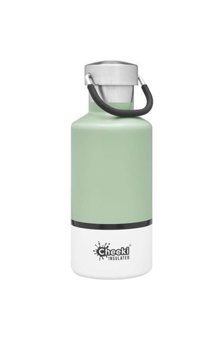 Cheeki 400ml Classic Insulated Stainless Steel Bottle - Pistachio White