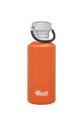 Cheeki 500ml Classic Single Wall Stainless Steel Bottle - Orange