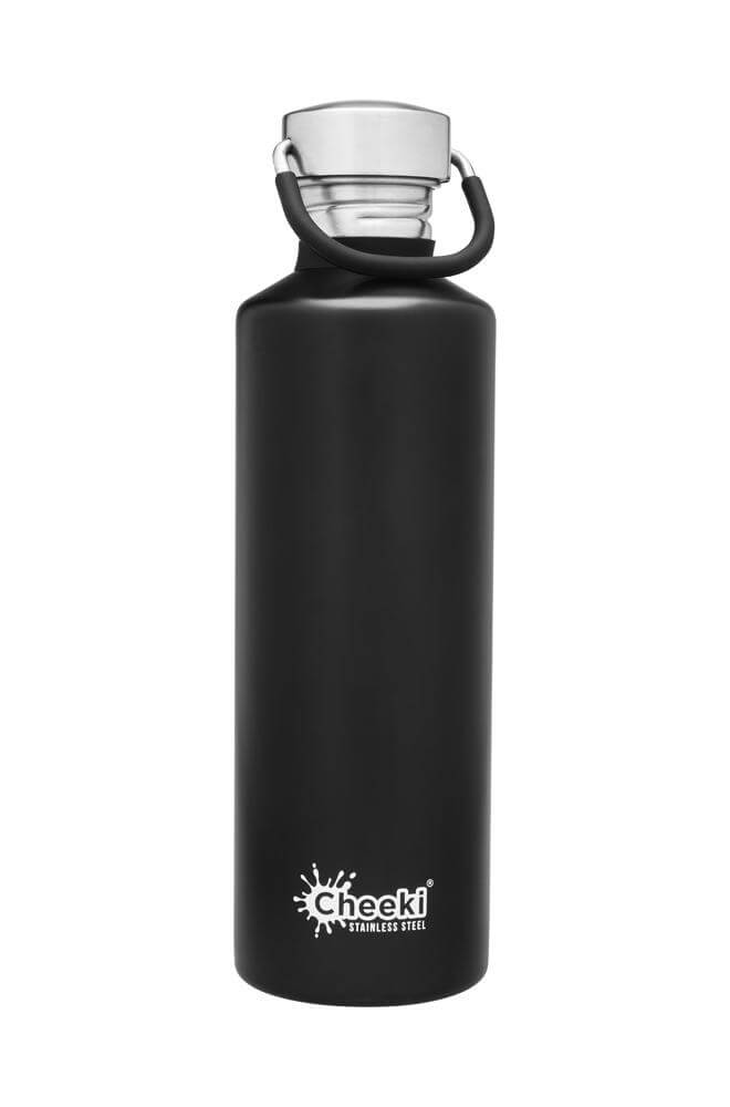 Cheeki 750ml Classic Single Wall Stainless Steel Bottle - Black