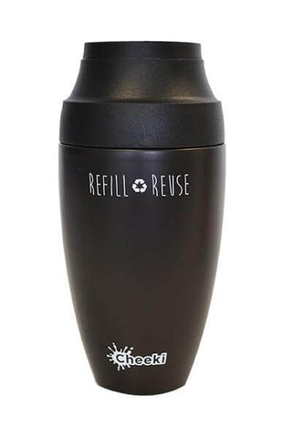Cheeki 350ml Reusable Coffee Mug - Chocolate