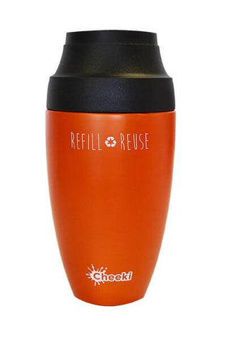 Cheeki 350ml Reusable Coffee Mug - Orange