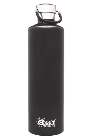 Cheeki 1L Classic Insulated Stainless Steel Bottle - Black