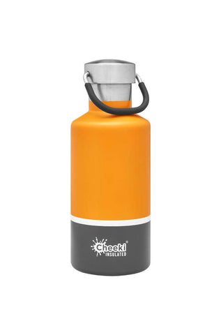 Cheeki 400ml Classic Insulated Stainless Steel Bottle - Sunshine Grey