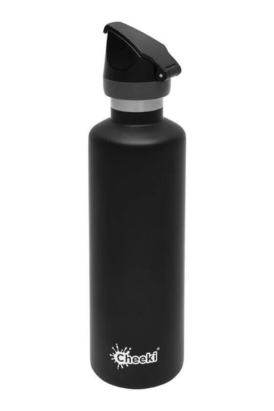 Cheeki 600ml Active Insulated Stainless Steel Bottle - Black