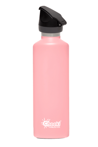 Cheeki 600ml Active Insulated Stainless Steel Bottle - Pink