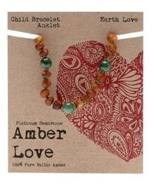 Child's Bracelet Amber Love 100% Pure Baltic Amber - Earth Love