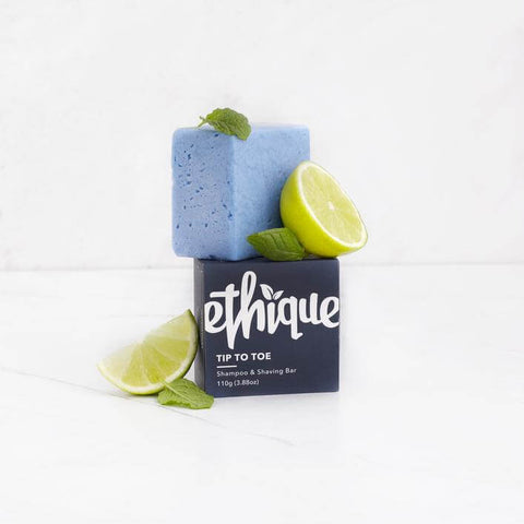 ethique tip to toe shampoo and shave bar