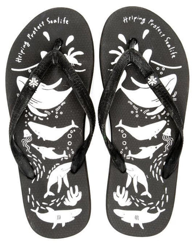Etiko Natural Rubber Thongs - Sea Shepherd