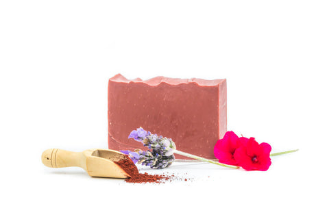 harvest garden rose geranium, lavender & patchouli bar soap