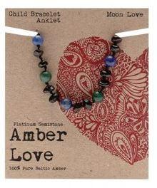 Child's Bracelet Amber Love 100% Pure Baltic Amber - Moon Love