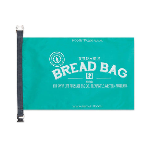 aqua reusable bread bag onya