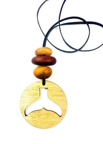 Whale Tail Circle Necklace - Elements Jewellery