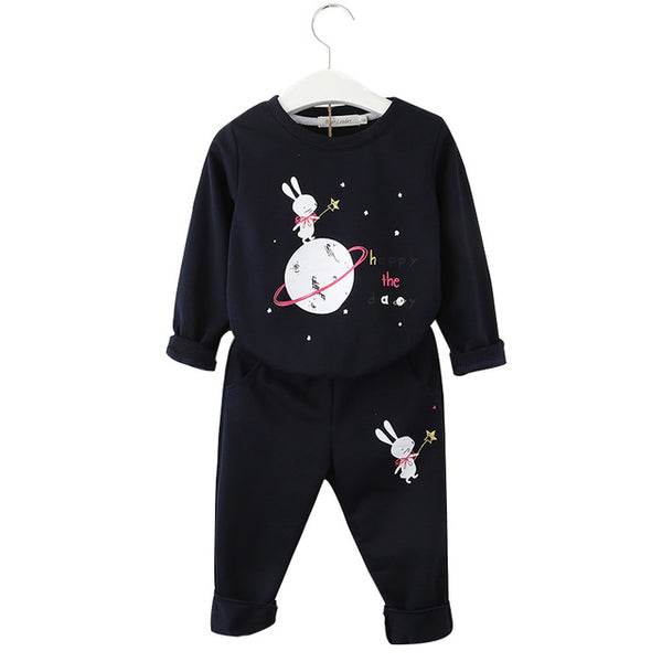 2pcs Set Christmas Outfit Kids Clothes Tracksuit Suit For Girls Clothing Sets