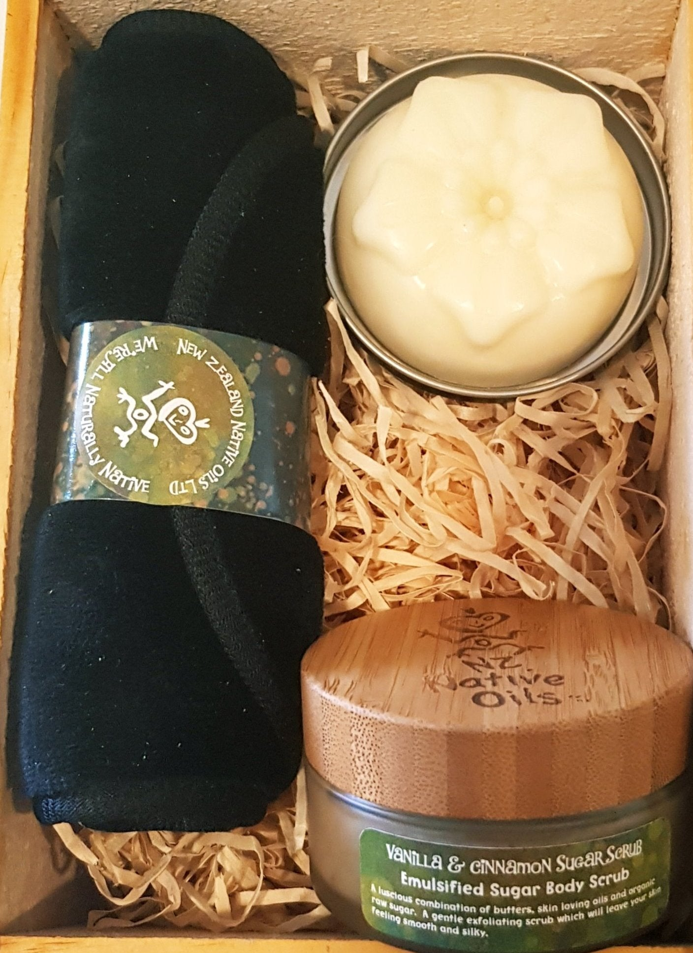 Sugar Scrub & Moisture Bar Gift Box-NZ Native Oils Ltd