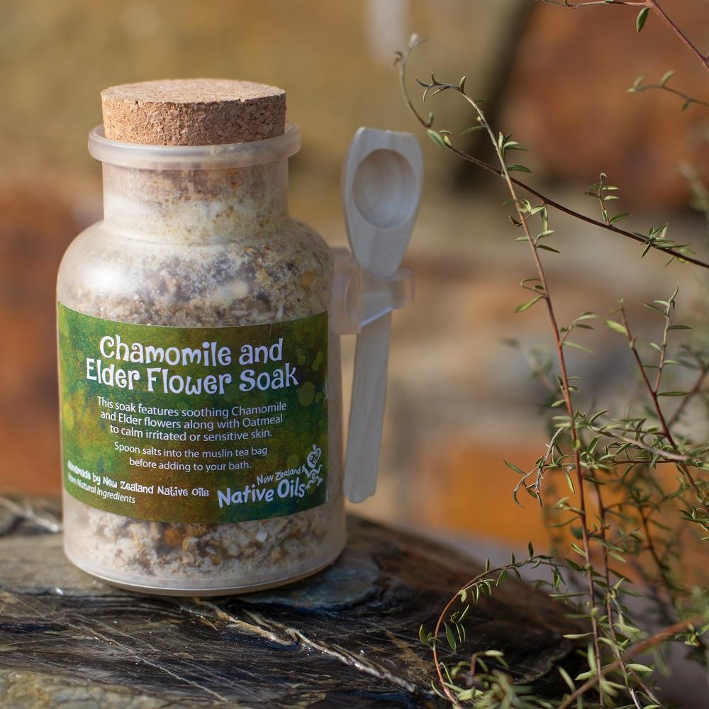 Organic Chamomile and Elder Flower Bath Soak-NZ Native Oils Ltd