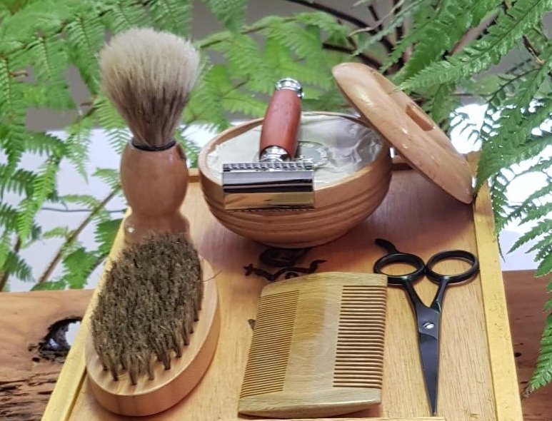 Men's Shaving Kit - Deluxe-NZ Native Oils Ltd
