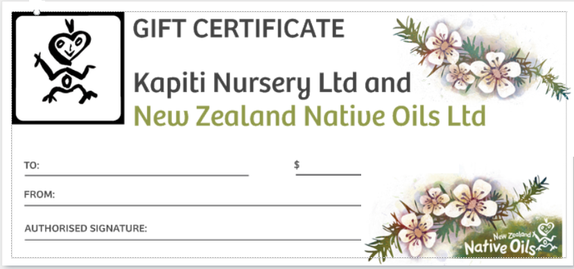 Gift Voucher-NZ Native Oils Ltd