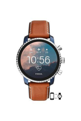Mens Gen 4 Explorist HR Stainless Steel Touchscreen Smart Watch - FTW4016