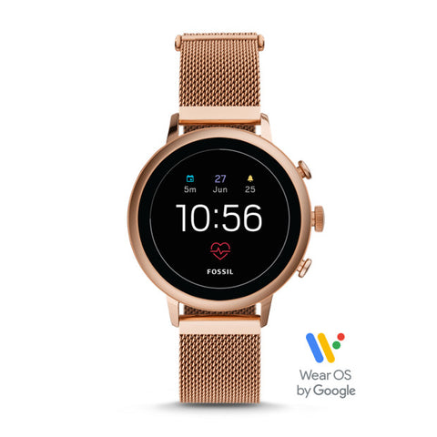GEN 4 SMARTWATCH - VENTURE HR ROSE GOLD-TONE STAINLESS STEEL MESH