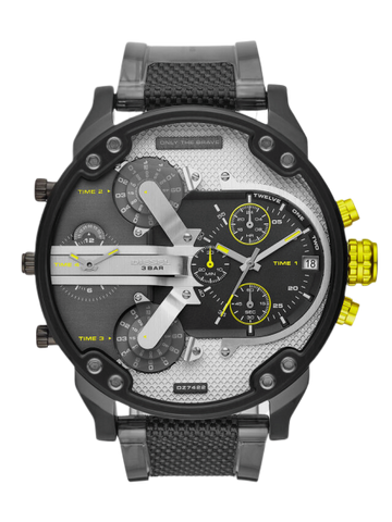 Mr. Daddy 2.0 chronograph two-tone polyurethane watch