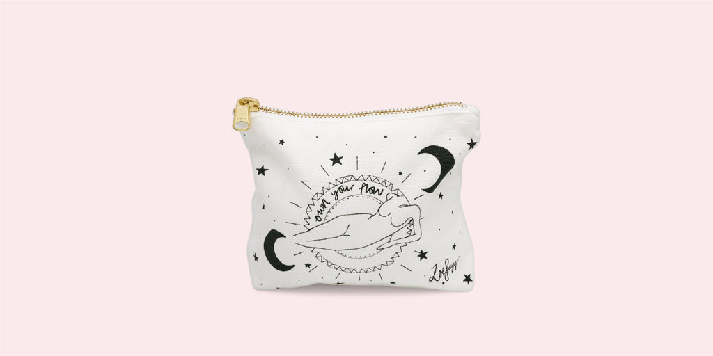 """Own your flow"": Zoe Sugg's bag designed exclusively for Fempowered"