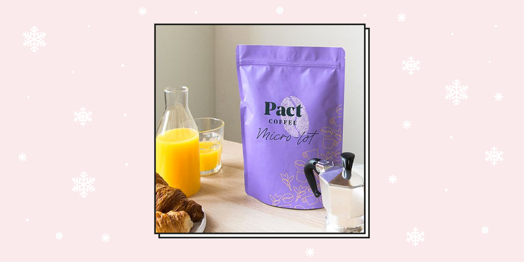 A packet of Pact coffee