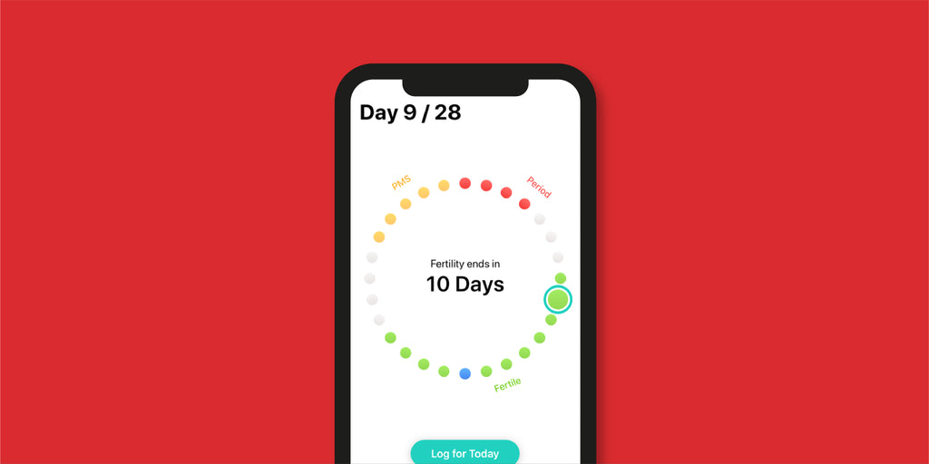 Screenshot of period tracking app Cycles