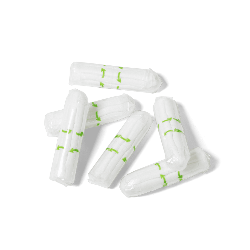 6 non-applicator regular tampons