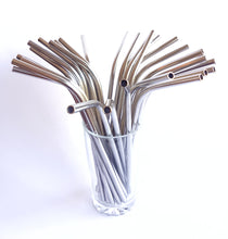 Load image into Gallery viewer, Stainless Steel Straws (Straight & Bent)