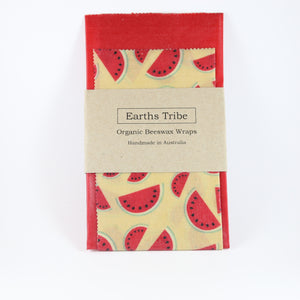 watermelon print beeswax wraps