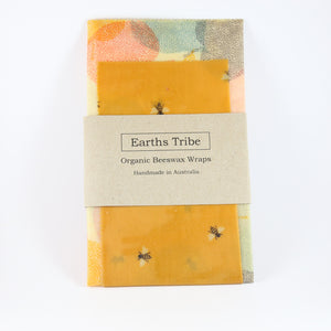 bee print beeswax wrap