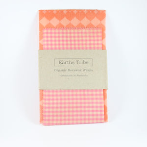 2 pack of pale pink beeswax wraps
