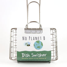 Load image into Gallery viewer, single dish swisher - wire cage with handle. cage fits a block of soap. designed to swish around in sink to create suds to wash dishes