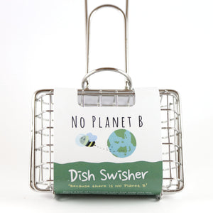 single dish swisher - wire cage with handle. cage fits a block of soap. designed to swish around in sink to create suds to wash dishes