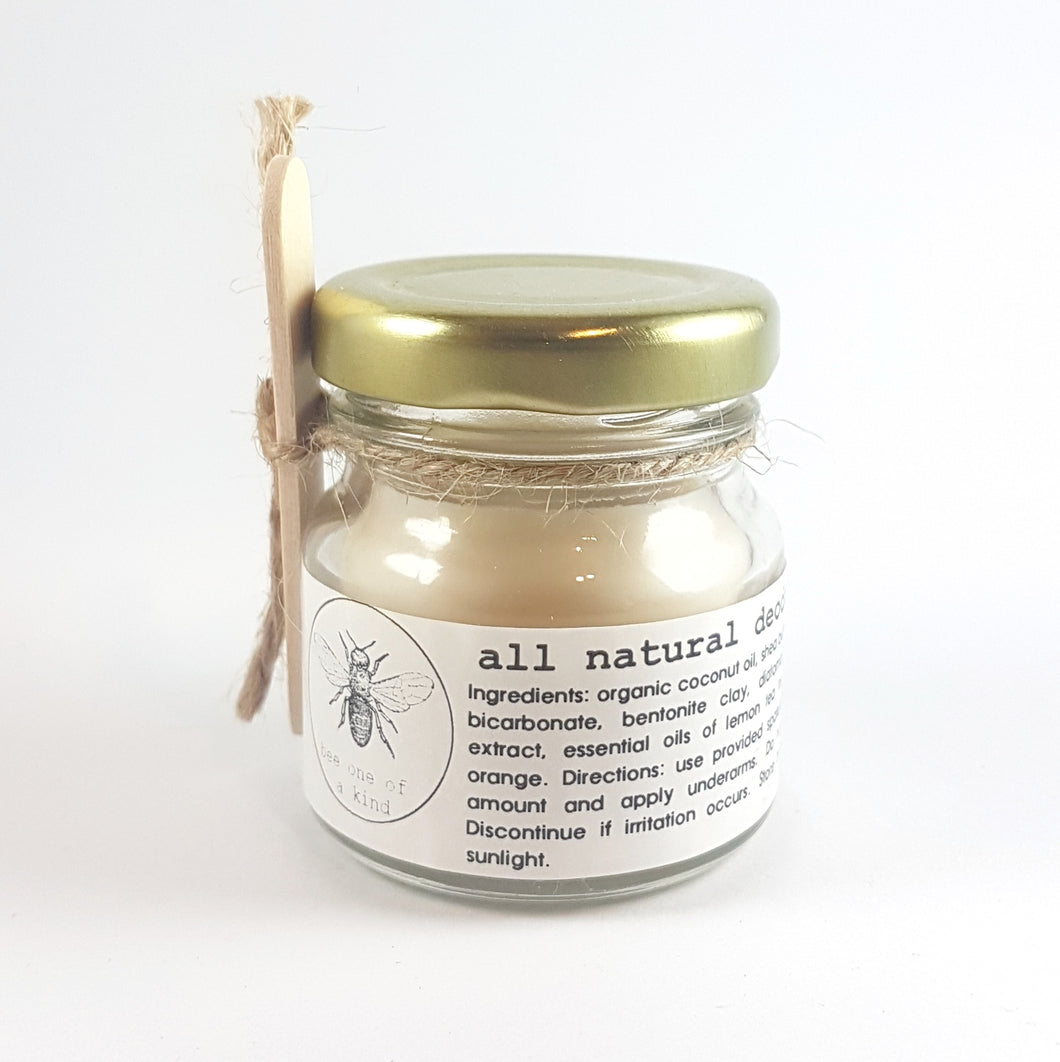 Bee One of a Kind: Natural Deodorant