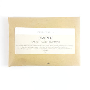 Single brown envelope containing face mask powder