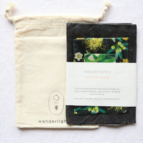 Wander Lightly; Beeswax Wraps 3pk