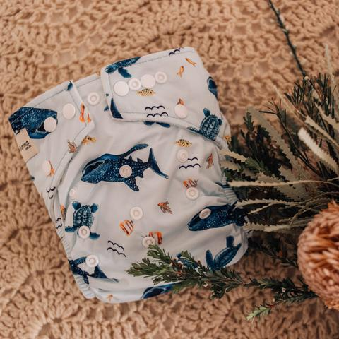 My Little Gumnut: Modern Cloth Nappy - Marine Life