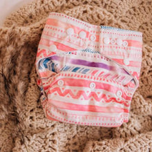 Load image into Gallery viewer, My Little Gumnut: Modern Cloth Nappy - Aztec Pink/Purple