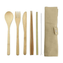 Load image into Gallery viewer, bamboo cutlery and pouch