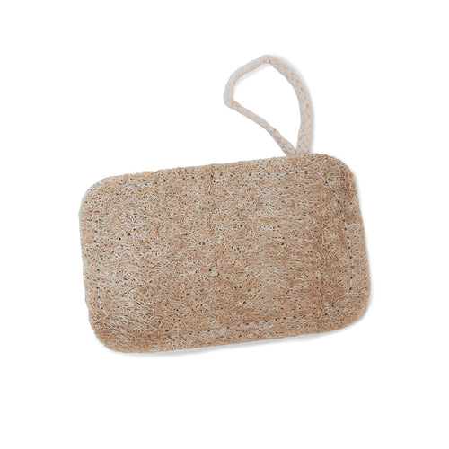 single rectangular loofah sponge