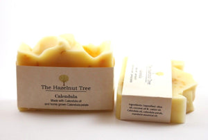 2x pale yellow soaps