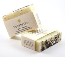 Load image into Gallery viewer, 2x pale yellow soaps with poppyseeds embedded in the top for exfoliating